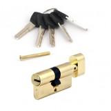 Цилиндровый механизм Avers EL-60 золото фиксатор