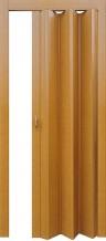 Раздвижная дверь гармошка Стиль глухая с жестким  соединением миланский орех