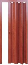 Раздвижная дверь гармошка Стиль глухая с жестким  соединением вишня