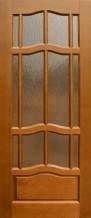 Межкомнатная дверь из массива Ампир ПО темный орех